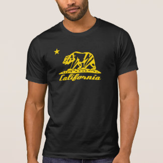 T-shirt Conception de drapeau d'ours de la Californie