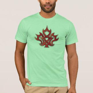 T-shirt Conception de feuille d'érable