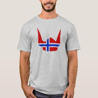 T-shirt Conception de la Norvège de drapeau de Viking de