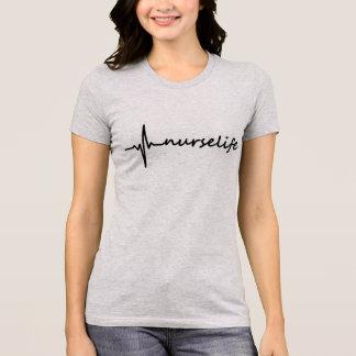 T-shirt Conception de la vie ECG d'infirmière