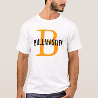 T-shirt Conception de monogramme de race de Bullmastiff