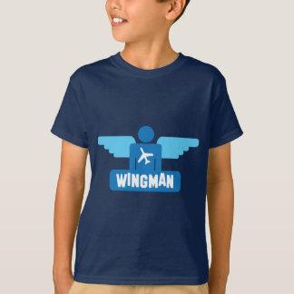 T-shirt conception de pilote de wingman