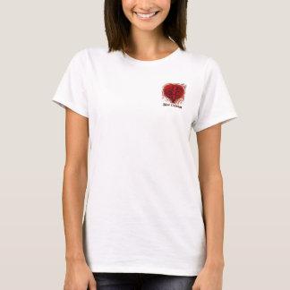 T-shirt Conception de poche de Fleur De Lis Heart