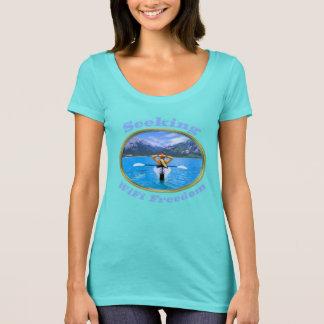 T-shirt Conception de recherche de Kayaker de liberté de