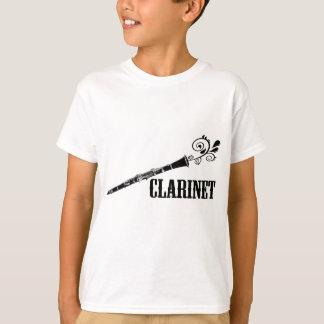 T-shirt Conception de remous de vecteur de clarinette