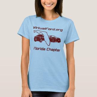 T-shirt Conception de rouge foncé des dames FLC