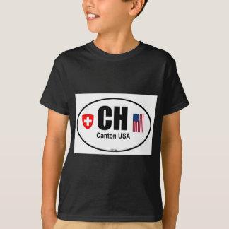 T-shirt Conception des Etats-Unis de canton