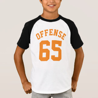 T-shirt Conception d'or blanche et d'orange des enfants |