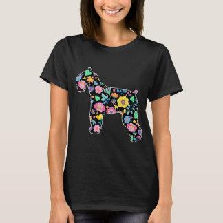 T-shirt Conception florale de Schnauzer mignon
