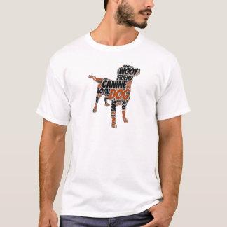 T-shirt Conception graphique d'art de mot de chien