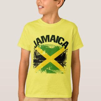 T-shirt Conception grunge de drapeau de la Jamaïque de