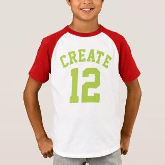 T-shirt Conception rouge du Jersey de sports des enfants |