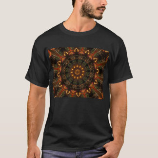T-shirt Conception rouge électrique d'art