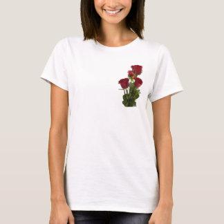 T-shirt Conception rouge foncé magnifique de rose