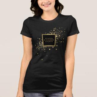 T-shirt Confettis d'or de Faux