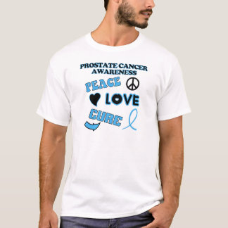 T-shirt Conscience de cancer de la prostate