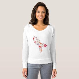 T-shirt Conscience de cancer du sein outre de chemise