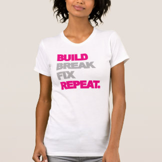 T-shirt Construction, coupure, difficulté, répétition