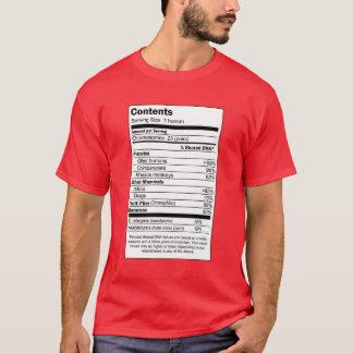 T-shirt Contenu d'humain de 100%