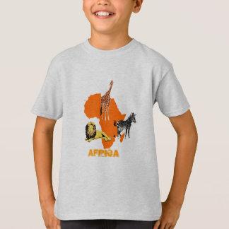 T-shirt Continent orange de l'Afrique