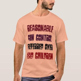 T-shirt Contrôle des armes raisonnable préféré au-dessus