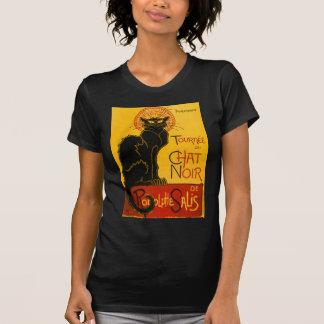 T-shirt Conversation vintage Steinlen Noir de Nouveau