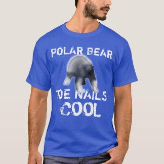 T-shirt Cool de clous d'orteil d'ours blanc