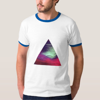 T-shirt cool triangular abstract motif
