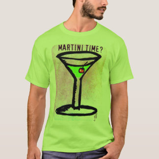 T-shirt COPIE d'ART d'AFFICHE de MARTINI APPLETINI par