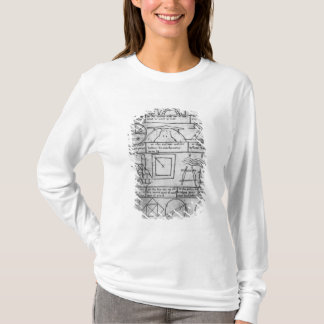 T-shirt Copie de télécopie des chiffres géométriques