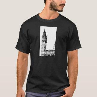 T-shirt Copie monotone de LONDRES BIG BEN