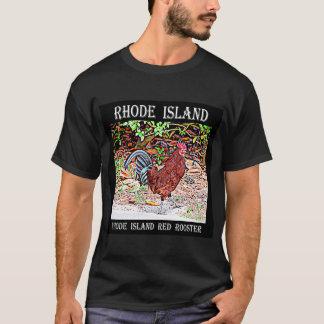 T-shirt Coq de rouge d'île de Rhode