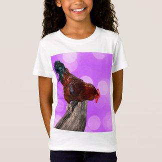 T-Shirt Coq Parker fouineur de Brown,