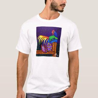 T-shirt Coq sur la barrière par Piliero