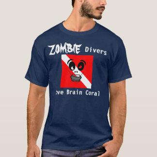 T-shirt Corail de cerveau d'amour de plongeurs de zombi