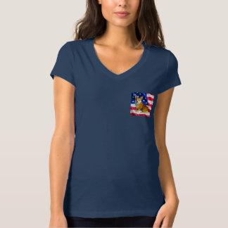 T-shirt Corgi de Gallois avec le drapeau américain