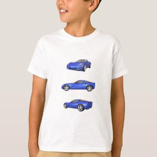T-shirt Corvette bleue :