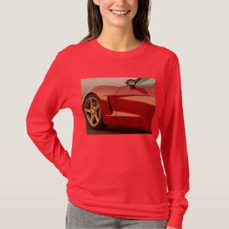 T-shirt Corvette rouges