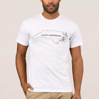 T-shirt cosmique des super héros OR