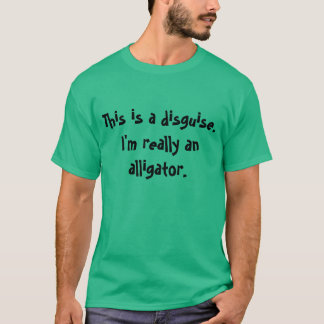 T-shirt Costume d'alligator