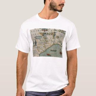 T-shirt Côte de la Caroline du Nord, détail de la carte