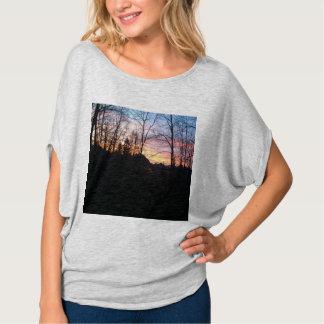 T-shirt Coucher du soleil allemand, la chemise des femmes