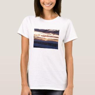 T-shirt coucher du soleil/barrière-t-chemise de pays
