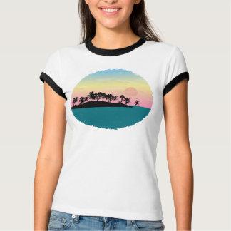 T-shirt Coucher du soleil couleur pêche