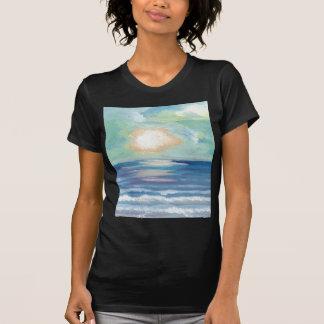 T-shirt Coucher du soleil de plage - art d'océan de