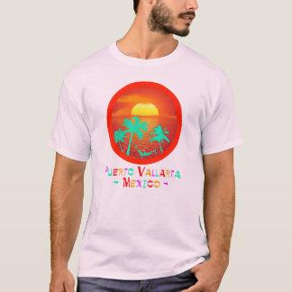 T-shirt Coucher du soleil de plage de cercle de Puerto
