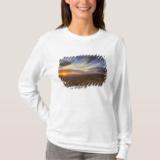 T-shirt Coucher du soleil, jante du sud du canyon grand,