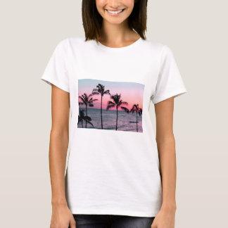 T-shirt coucher du soleil/T-shirt de paume/plage