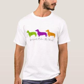T-shirt Couleur de teckel mon monde