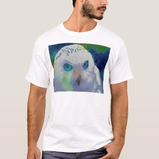 T-shirt Couleur d'eau de hibou d'hiver